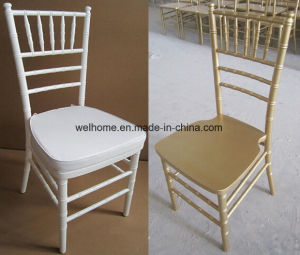 Low Price Factory White Wood Tiffany Chair for Wedding pictures & photos