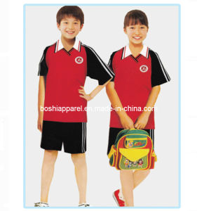 Middle School Uniforms, Summer Clothing for Kids (BS7086) pictures & photos