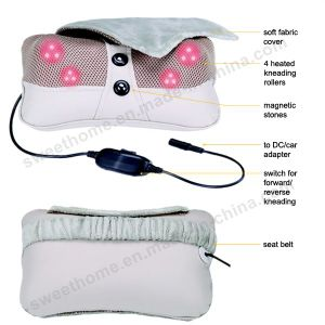 Electric Smart Head Neck Shiatsu Car Massage Pillow pictures & photos
