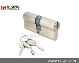 Double Open Brass Security Door Lock Cylinder Rx-25 pictures & photos