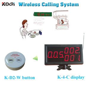 Electronic Bell System K-4-C Display Monitor with K-D2-W Transmitter in 433.92MHz pictures & photos