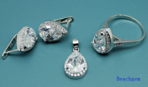 White Cubic Zirconia Fashion Jewellery Set (S3305) pictures & photos