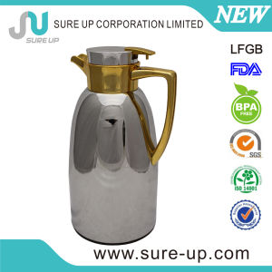 1.3L, 1.7L New Style Glass Inner Steel Outer Body Tea Pot with ABS Handle pictures & photos