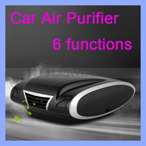 Filter Pm2.5 2 Watt DC 12V HEPA UV Ioinizer Car Air Purifier pictures & photos