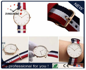 2017 New Fashion OEM Dw Style Nylon Strap Watch in Stainless Steel (DC-007) pictures & photos