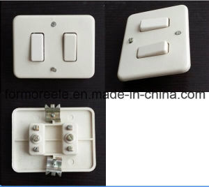 America Iovry Bakelite 220V10A 2 Gang 2 Way Wall Switch pictures & photos