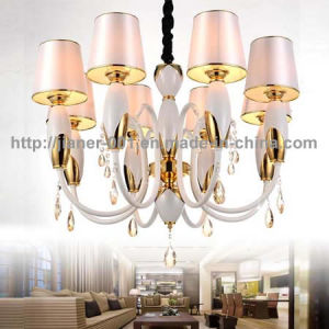 Very Competitive Iron Chandelier Lighting Pendant with Fabric Shade pictures & photos