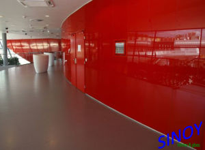 Red Painted Glass, Lacquered Glass for Decorative Glass Wall pictures & photos