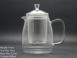 High Quality Heat Resistant Glass Teapot with Infuser Coffee Tea Leaf Herbal1000ml pictures & photos