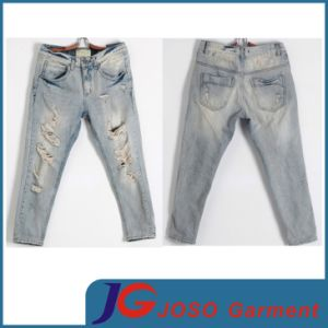 Destroyed Jean Retro Casual Women Pants (JC1230) pictures & photos