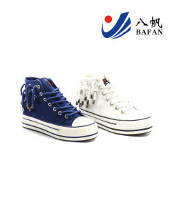 2015 New Arrival Women High Top Vulcanization Canvas Shoes (BFM0297) pictures & photos