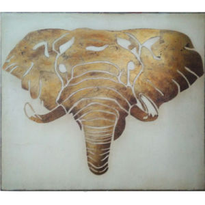 Hand-Painted Animal Elephant Painting (LH-071000) pictures & photos