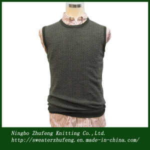 Men′s Jacquard Sweater Vest NBZF0064
