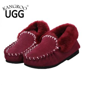 Classic Moccasin Women Casual Shoes in Red pictures & photos