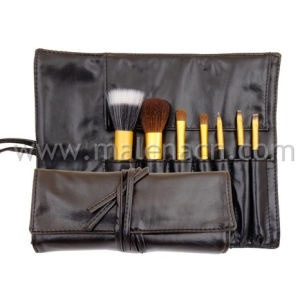 7PCS Travel Makeup Brush with Gold Ferrule pictures & photos