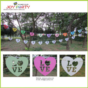 I Love You Paper Garland 12 PCS Banners with String pictures & photos