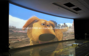 Projector Screen/Fixed Curved Projection Screen/ with Customized pictures & photos