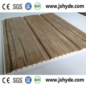 Wooden Grooves Laminatied PVC Panel Decoration Wall Panel for Interior Decor pictures & photos