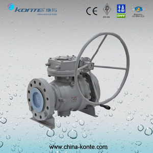 Cast Steel Trunnion Mounted Ball Valve pictures & photos