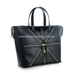 Unisex Lady PU Fashion Cosmetic Chain Tote Bag (LDA-017) pictures & photos