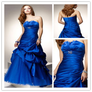 Strapless Taffeta Ball Gowns Color Accented Xyn-200