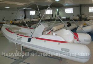 15.5ft Rib470c Recsue Boat with PVC Fiberglass Hull Rigid Inflatable Boat pictures & photos