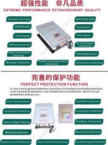 MPPT400-800V PV Water Pump Inverter with AC Input Optional pictures & photos