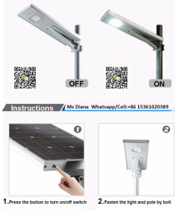 20W LED 40W Sunpower Solar Panel Integrated All in One Solar Street Light pictures & photos