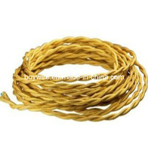 Decorative Yellow Braided Twisted Lamp Wire Use for Pendant Lamp pictures & photos