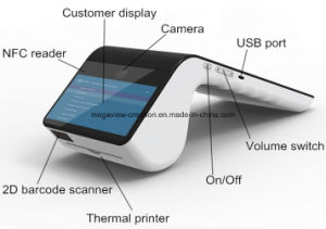 POS Terminal with Bluetooth+WiFi+Msr+SCR+2g/3G/4G+Camera+NFC+58mm Thermal Printer+2D Barcode Scanner+GPS pictures & photos