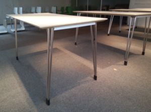 ANSI/BIFMA Standard 4 Seater Stainless Steel Rectangular Dining Table pictures & photos