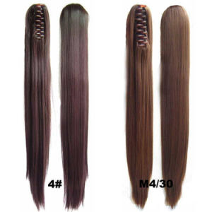 60cm 150g Long Straight Claw Synthetic Ponytail Extension for Female