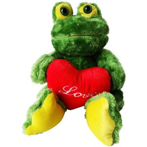 Super Soft and Stuffed Valentine Day Plush Frog Toy