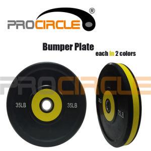 Crossfit Rubber Bumper Plate Two Color Bumper Plate (PC-BP-1056-1060) pictures & photos