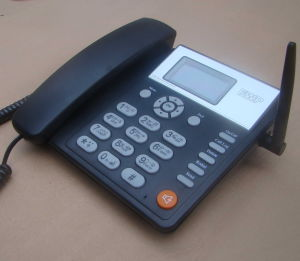 Dual SIM Card GSM Fixed Wireless Desktop Phone pictures & photos