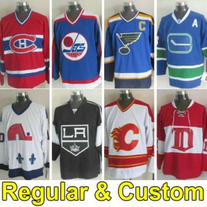 Ice Hockey Jerseys Regular & Custom Jersey with Your Name and Number Sports Wear Black Red White Blue Orange Green Yellow Purple Men Women Youth