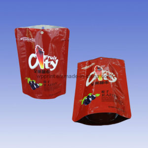 Plastic Lamination, Stand up Raisin Bag with Zipper (Hot Sale)