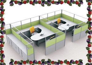 8 Seaters Multi-Function Office Furniture - Workstation with Partition (TL-4052)