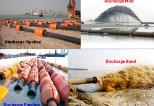 Good Quality +HDPE Pipe Attached with Sand Dredger
