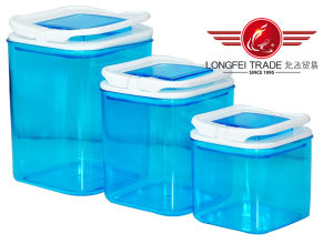 Transparent Plastic Airtight Container with Locking Lids pictures & photos