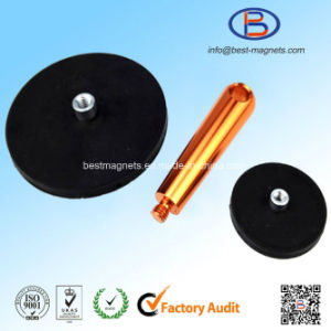 Original Supplier of Neodymium Rubber Coating Disc 43mm Magnet Pot/Gripper pictures & photos