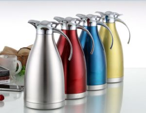 1000ml 201 Stainless Steel Vacuum Coffee Pot with Steel Handle pictures & photos