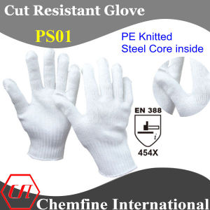 PE Knitted Glove with Steel Core Inside/ En388: 454X pictures & photos