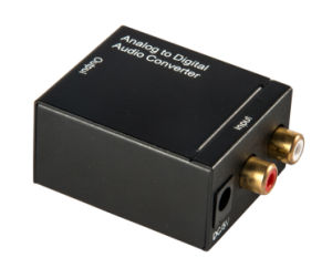 Analog to Digital Audio Converter with Fiber Optic Coaxial Output pictures & photos