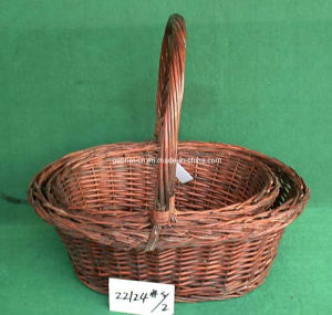 Handle Shopping Basket (22124# S/2)