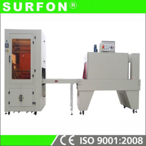 Welded Film on Wood Bottom Shrink Packing Machine pictures & photos