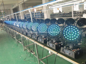 36PCS X 18W Rgbwauv 6-in-1 LED Zoom Moving Head Wash Light pictures & photos