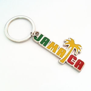 Jamaica Souvenir Gift Tour Color Keychain in Letter Shape (F1153)