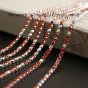 Colour Shining Roll Rhinestone Cup Chain pictures & photos