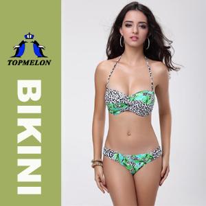 Topmelon New Women′s Push Uup Padded Bar Bikini Swimwear Swimsuit T86e